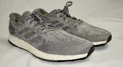 sports shoes d4045 abd24 2017 ADIDAS PURE Boost DPR PrimeKnit Grey Running Trainer Sz 13 S82010  Ultra NMD