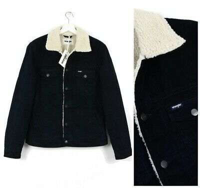 bc4f1a94d NEW WRANGLER BY PETER MAX SHERPA JACKET LINED CORDS CORDUROY RETRO S ...