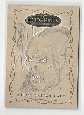 LOTR Lord of the Rings Evolution Topps Sketch Card by Davide Fabbri 1/1