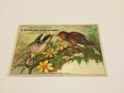 Victorian Trade Card S. Rosenbloom & Sons Syracuse, New York