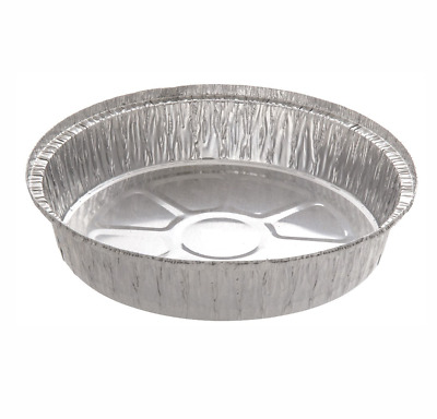 Round foil tray with kraft box 8 inch x 1 inch flan pie dish various quantities
