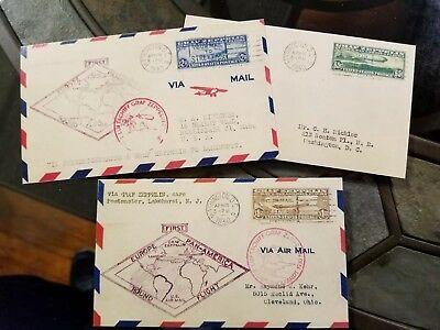 US Stamps C13 C14 and C15 Graf Zeppelin First Flight Air Mail Cover Replica/Copy