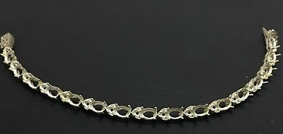 925 Sterling Silver Semi Mount 5x7 mm oval Bracelet Semi Mount Bracelet Setting