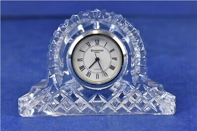 Waterford Crystal Small Glass Mantle Clock needs new battery
