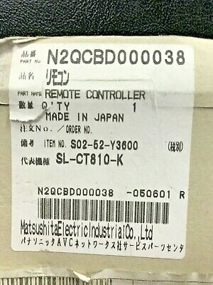 Panasonic N2QCBD000038 - Remote Controller - Brand New - Genuine/Original Part