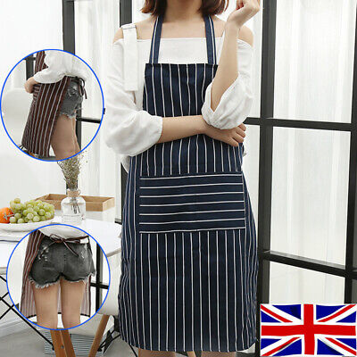 Kitchen Catering Cooking Butcher Bib BBQ Baking Chef Unisex Apron with Pocket UK