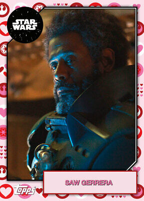 Topps Star Wars Card Trader 2019 Base Valentines 2 Saw Gerrera #2 214cc