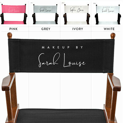 Makeup Artist Chair Replacement Personalized Canvas Set. Custom made to measure