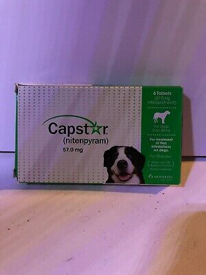 CAPSTAR 6 Tablets Dogs Oral Flea Treatment over 25 lbs Medicine Nitenpyram