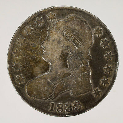 1833 50c CAPPED BUST HALF DOLLAR - LETTERED EDGE - LOT#H031