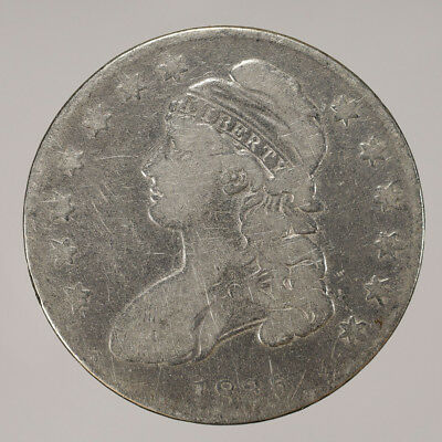 1835 50c CAPPED BUST HALF DOLLAR - LETTERED EDGE - LOT#H040