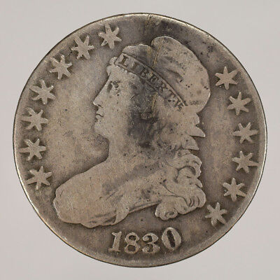 1830 50c CAPPED BUST HALF DOLLAR - LETTERED EDGE - LOT#H011