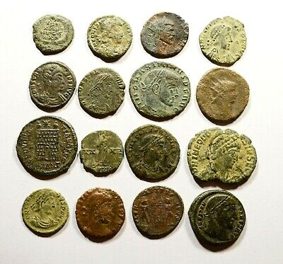Lot Of 16 Imperial Roman Bronze Coins For Identifying - 20