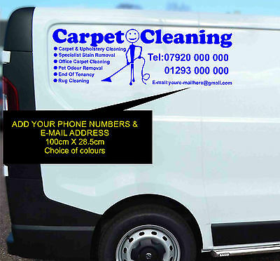 Carpet Cleaning Van Sticker Self Adhesive Vinyl Graphic Decal Side Sign Large