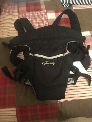 655ade9f0ef Infantino Easy Rider Flip Front Black Baby Carrier Boy Or Girl 8-20 Lbs