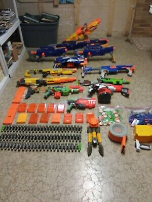 Lot of NERF blaster gun with extras
