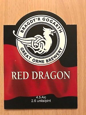 Red Dragon Ale Beer Pump Clip Badge Great Orme Brewery Wales Bragdy'R Gogarth