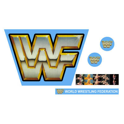 WWF//WWE Mattel Retro WCW Monday Nitro Custom Ring Stickers//Decals