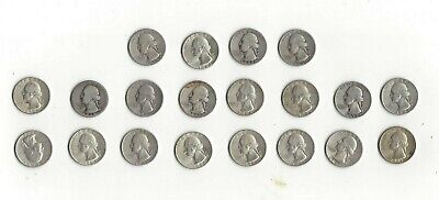 Free Shipping! $5 Face Value Washington Quarters 90% Silver (Lot Of 20 Coins)