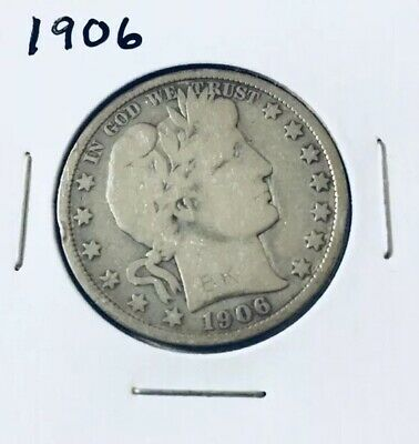1906 Barber Half Dollar - Scarce!!  Better Date