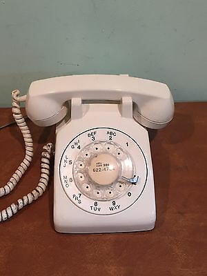 Vintage Western Electric Model 500 Rotary Telephone White