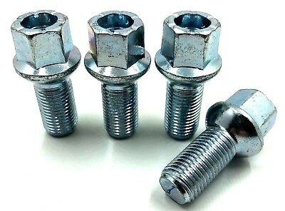 4 x ALLOY WHEEL BOLTS FOR VW GOLF MK4 MK5 MK6 MK7 RADIUS LUGS STUDS NUTS  [26]
