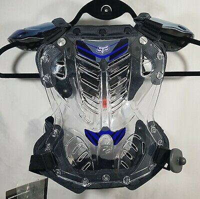 Fox R3 Roost Chest Deflector Protector Racing Black Motorcross Small