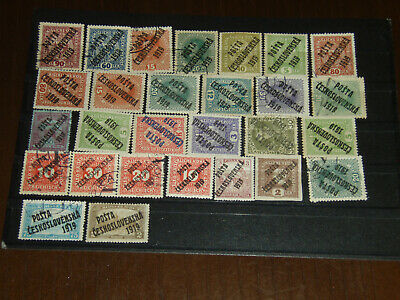 old Stamps Czechoslovakia    1919  USED + MH