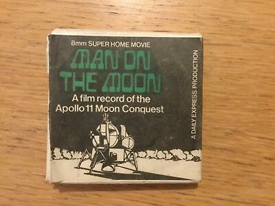 Vintage 8mm Super Home Movie MAN ON THE MOON APOLLO 11 MOON CONQUEST VERY RARE
