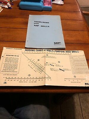 massey ferguson Seed Drill Hand Book And Seed Chart