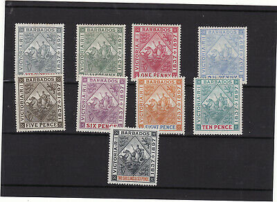 Stamps Barbados 1897-98 Diamond Jubilee Values To 10d Mlh/ Mh