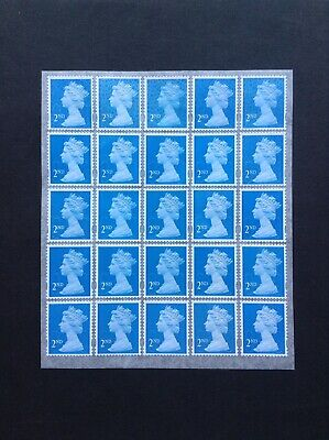 25 2nd Class Unfranked Security Stamps Self Adhesive Easy Peel
