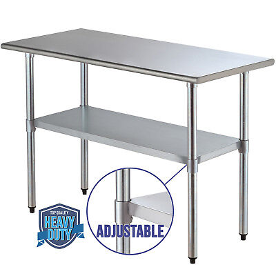 """24"""" x 48"""" Commercial Work Table Stainless Steel Food Prep Kitchen Restaurant"""