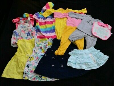 31efb8aa1d3c LOT OF 11 Mixed Carter s Baby Girl Clothes 6-9 Months Bodysuits ...