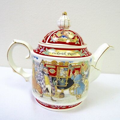 James Sadler England Tea Pot Charles Dickens' Pickwick Papers Collectable 2A