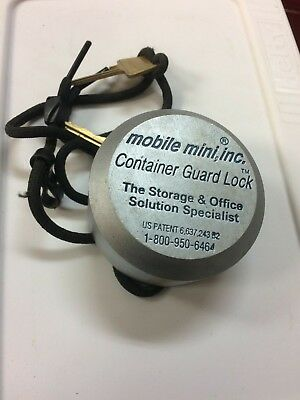 Mobile Mini,Inc. - Container Guard Lock - (2) Keys - Puck Style Lock