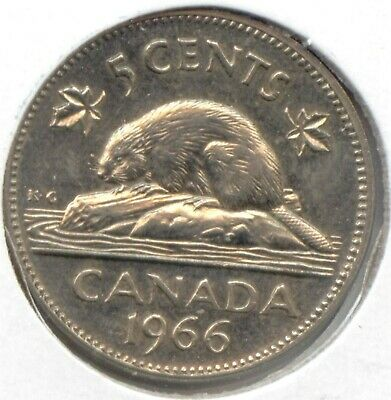 Canada 1966 Canadian Five Cent Nickel 5c 5 c *EXACT* COIN