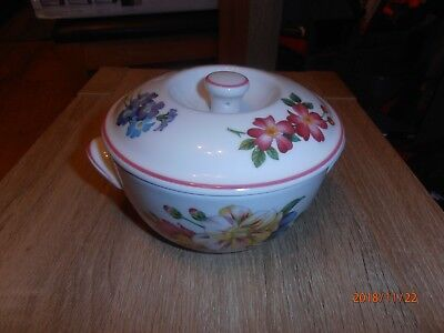 Royal Worcester ASHFORD Red Rim Petite Tureen / Lidded Warming Dish - FREE Post