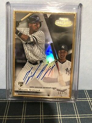 2018 Topps Gold Label Framed Autographs Black Miguel Andujar 56/75