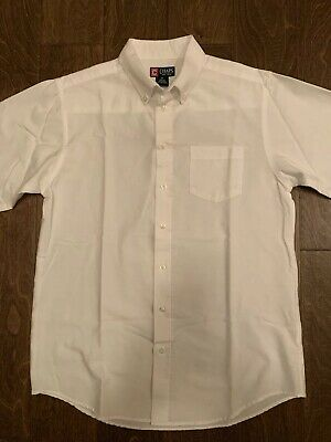 Boy's Chaps White Button Up Shirt Long Sleeve Size 18