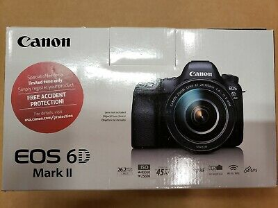 Canon EOS 6D Mark II DSLR Camera (Body Only) US Model 1897C002