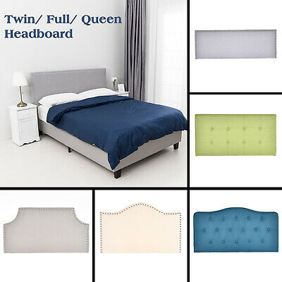 Twin/Full/Queen Size Linen Fabric Tufted Upholstered Headboard Height Adjustable
