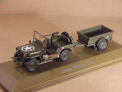 Editions Atlas #6690001 1/43 Seconda Guerra Mondiale Willys MB Jeep & T3