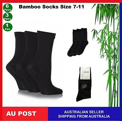 Mens Womens Bamboo Fibre Socks Odor Resistant Sweat Natural Comfortable 7-11