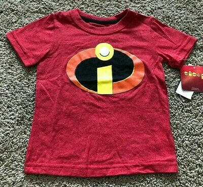 NWT Boys Red Short Sleeve Incredibles Top T-Shirt 18 Months