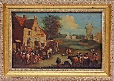 Dutch School Old Master 18th Century Original Oil on Panel Painting, c.1700's