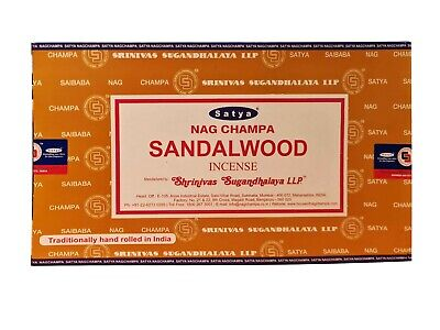 Genuine Satya Sai Baba Nag champa Sandalwood Incense Sticks 15 g X 12 pks