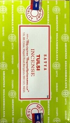Genuine Satya Sai Baba Nag champa Tulsi Incense Sticks 15 g X 12 pks