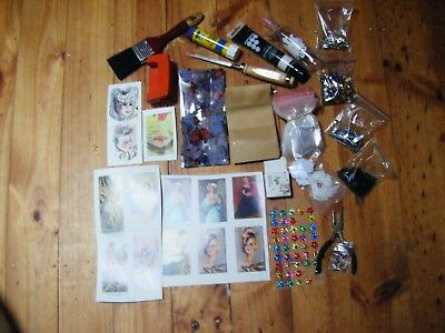 D.i.y. Craft X 19 Items-Tags,bags,paint,jewel,tacks,glue,hole Punch-Can P/up Vic