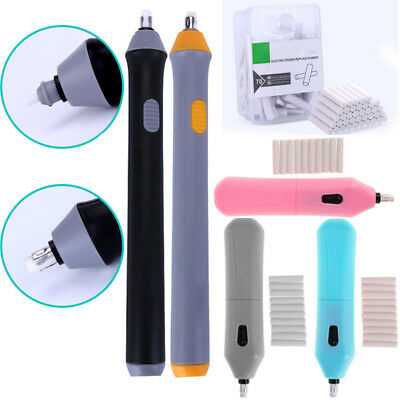 School Electric Eraser For Sketch Writing Drawing Electric Eraser W/ 5MM Refills